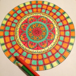 Mandala colored by Laurie